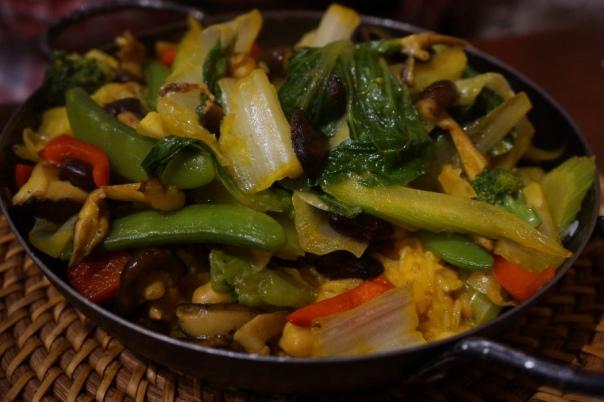Vegetarian Spanish risotto at Gusto.