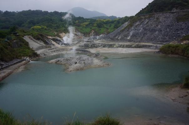 A natural hot spring in Beitou.