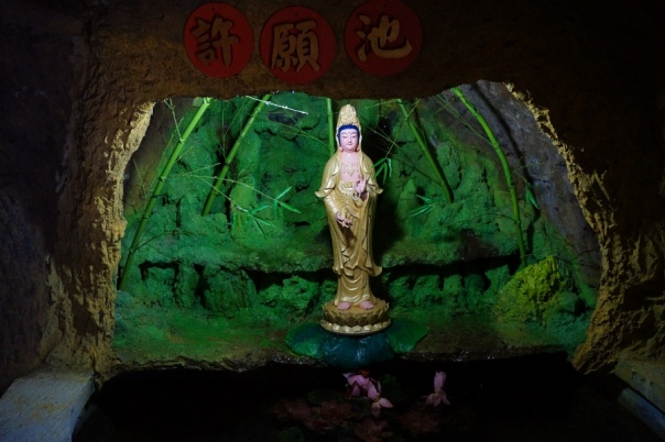 A statue in the Cave of Eight Immortals.