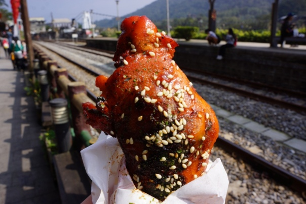 A tasty chicken wing stuffed with rice.