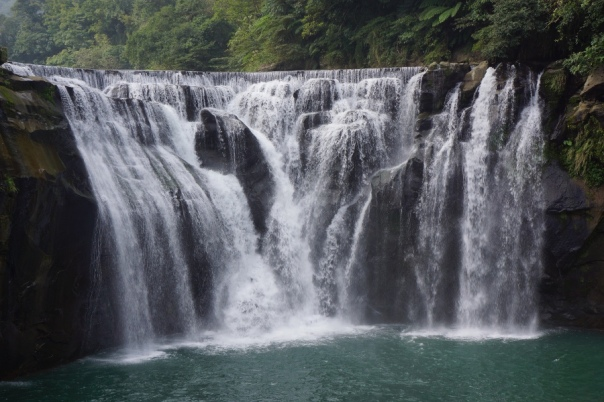 The Shifen Waterfall, one of the many sites on the Pingxi Line.