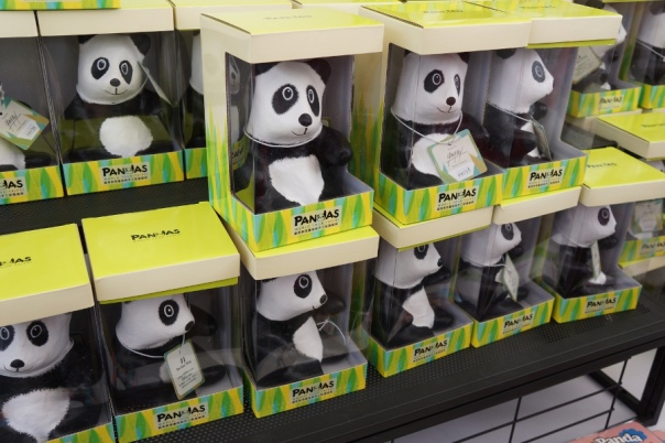 You can buy an even smaller version of the pandas to take home.