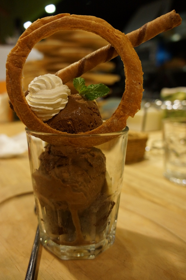 Cupid strikes in this dessert from the vegetarian restaurant The V:F.