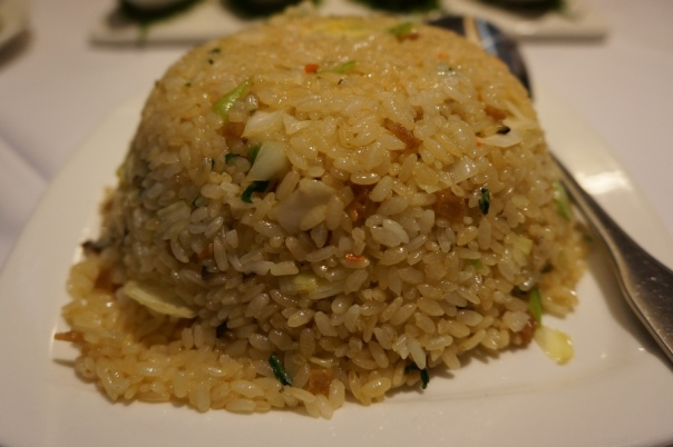 A huge mound of fried rice.  Their portions are bigger than a lot of other vegetarian restaurants I've been to.