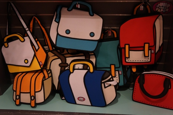 Reality or a cartoon?  Jump From Paper's bags will make you do a double take.
