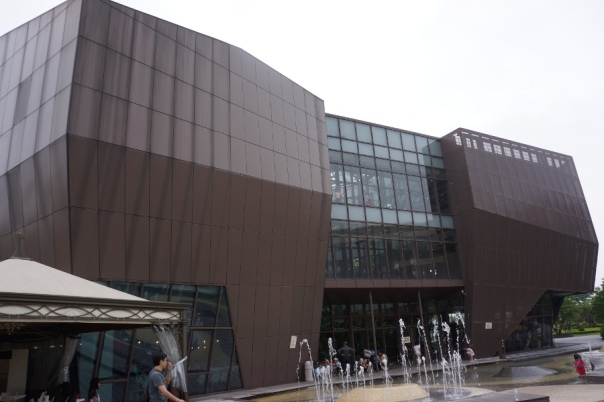 Museum or giant piece of chocolate?  It's hard to tell at the Republic of Chocolate 巧克力共和國 in Taoyuan.
