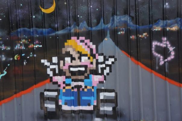 8 bit graffiti