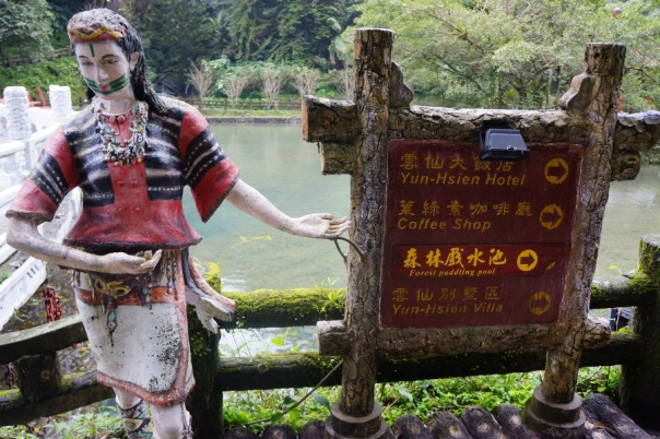 A statue of the Atayal people leads the way.