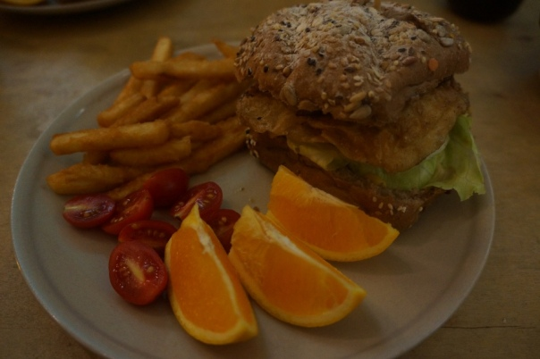 Fruit and vegetarian burgers make a great mix at About Animals 動物誌 in Taipei.