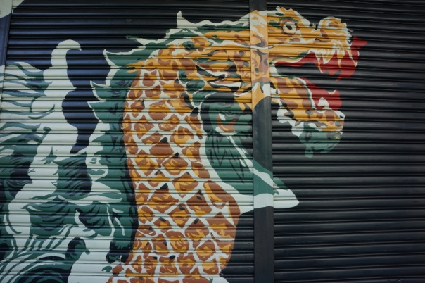 I actually saw people painting this dragon a few weeks ago.