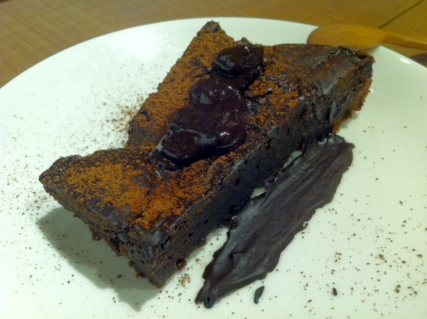 The very large and rich brownie.  I highly recommend it, though the taste may be too flavorful for some.