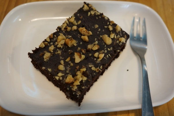 The brownie is worth trying for chocolate aficionados.