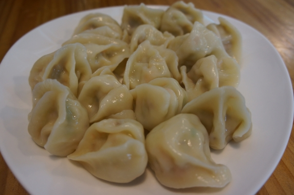 Sixteen plump dumplings can make for a big lunch.