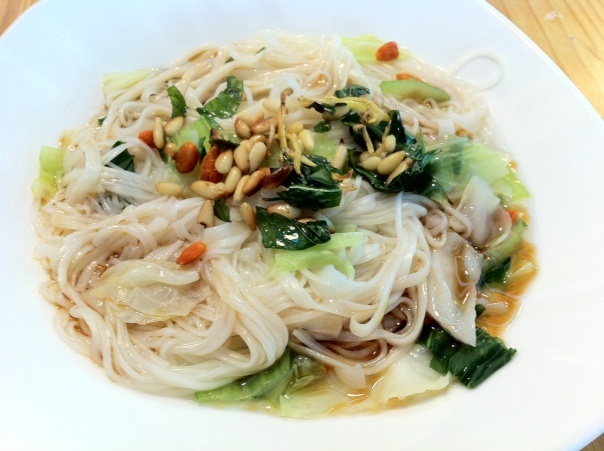 There are some nice looking vegan dishes at Yummy House 芽米屋 in Taipei.