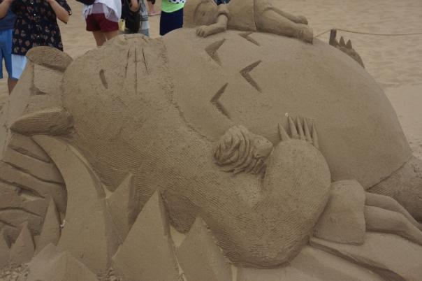 Totoro takes a nap.
